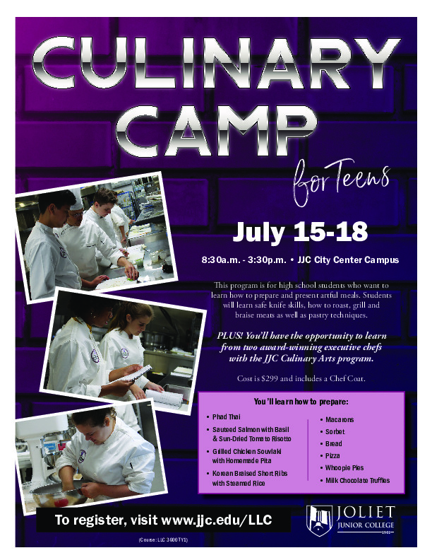 Culinary Camp for Teens