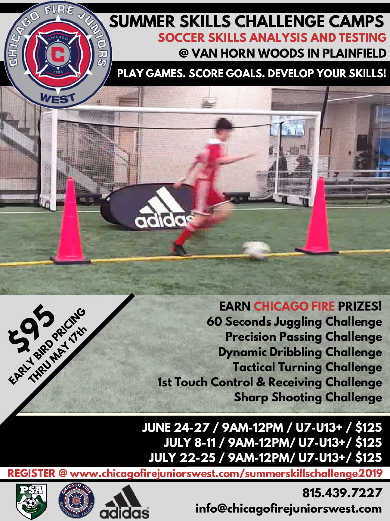 Chicago Fire Juniors West Soccer Club Summer Camps 2019