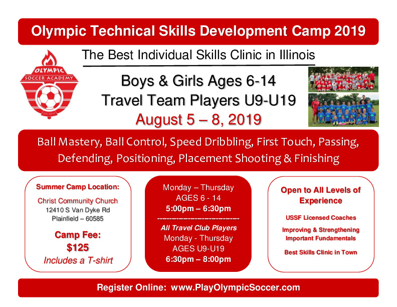 Summer Soccer Technical Skills Development Camp