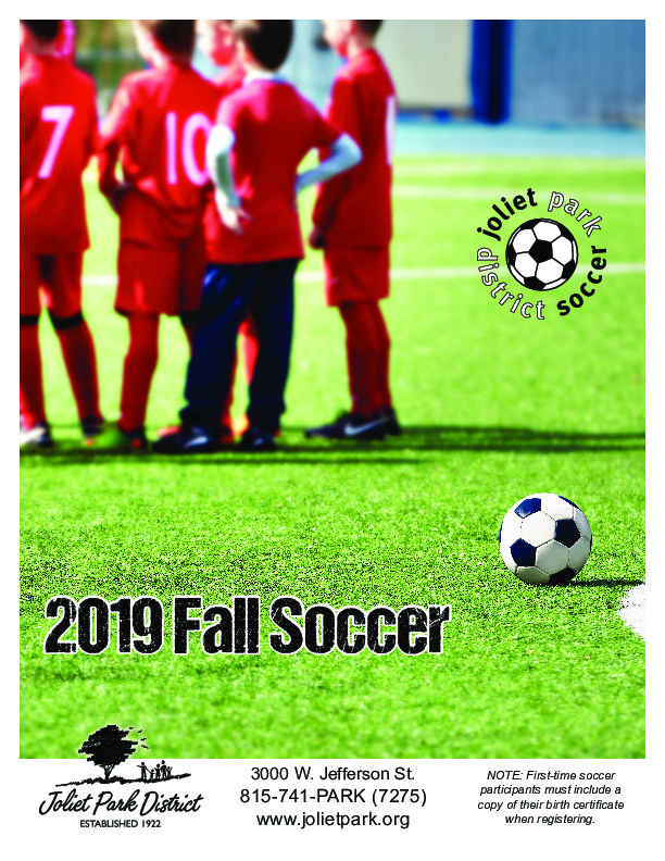 2019 Fall Soccer at the Joliet Park District