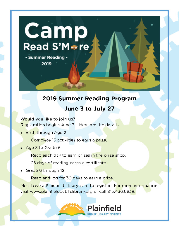 2019 Summer Reading Program at the Plainfield Public Library District