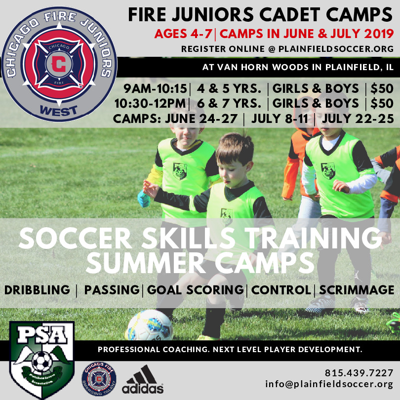 Chicago Fire Juniors Cadet Camps