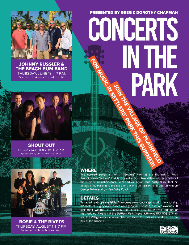 Concerts in Settlers' Park