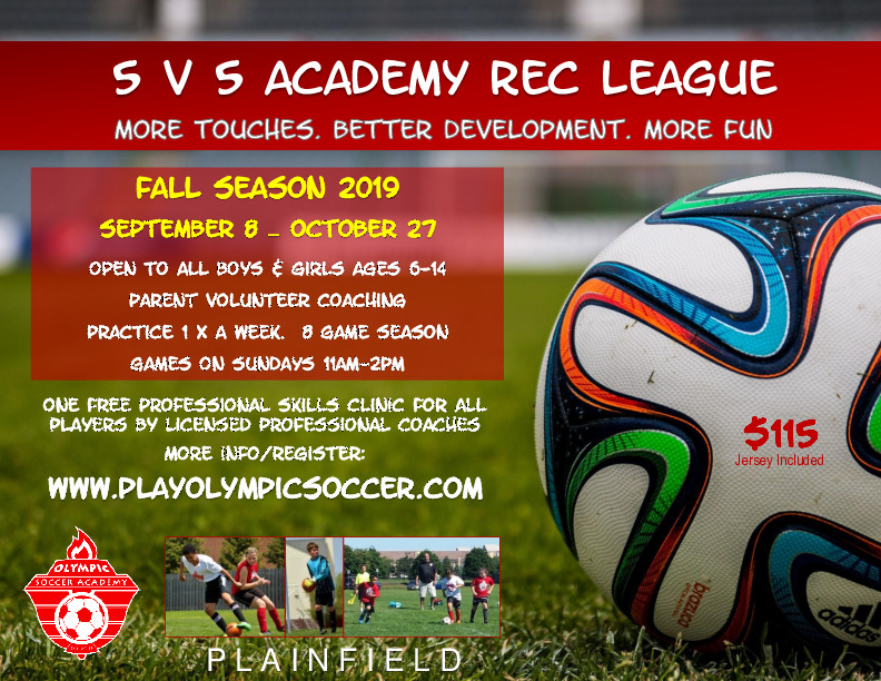 5 v 5 Fall Soccer League