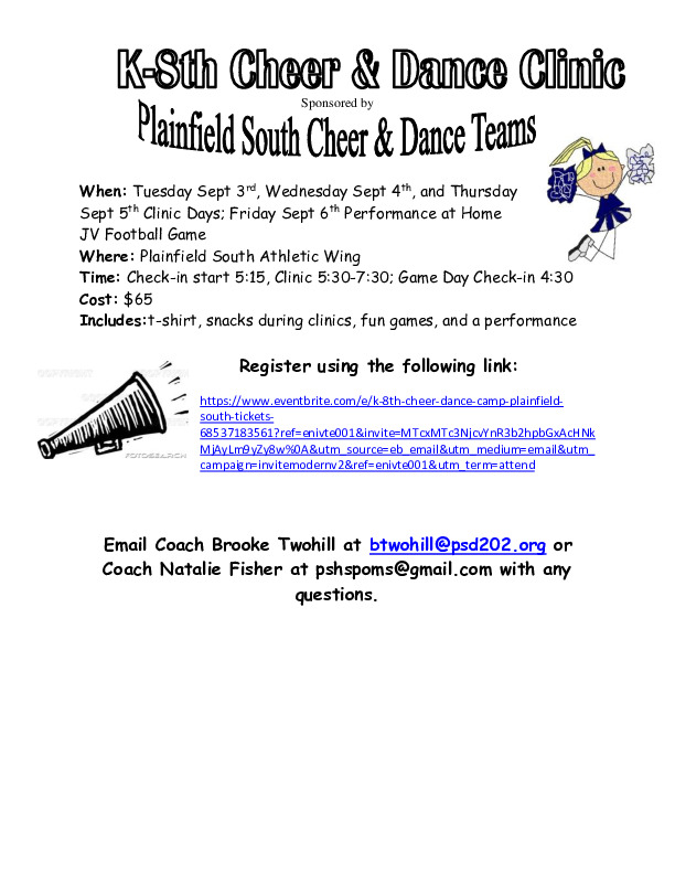 PSHS K-8 Cheer and Dance Clinic