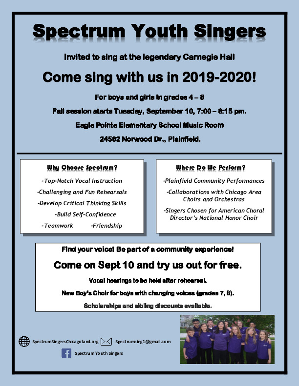 Join Spectrum Youth Singers