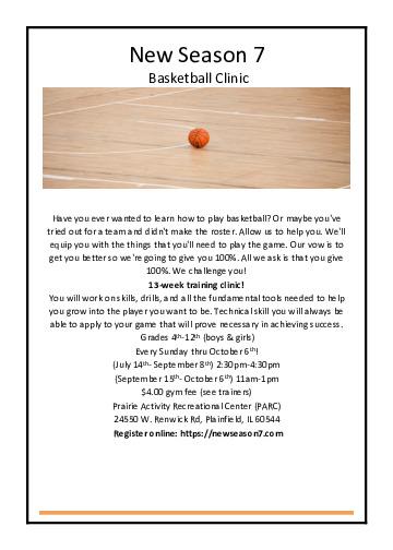 New Season 7 Basketball Clinic
