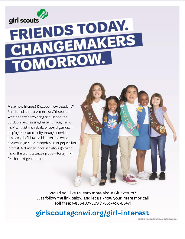Girl Scout Information Flyer