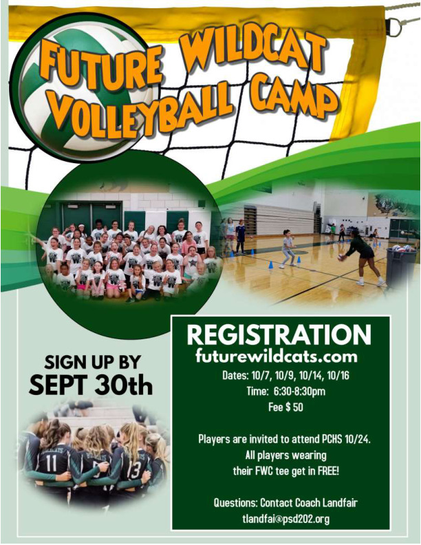 Plainfield Central Volleyball Fall Clinic Future Wildcats