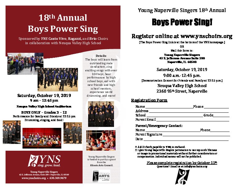 Young Naperville Singers Boys Power Sing!