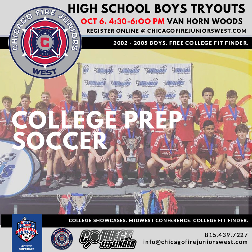 Chicago Fire Juniors West Soccer Club High School Tryouts
