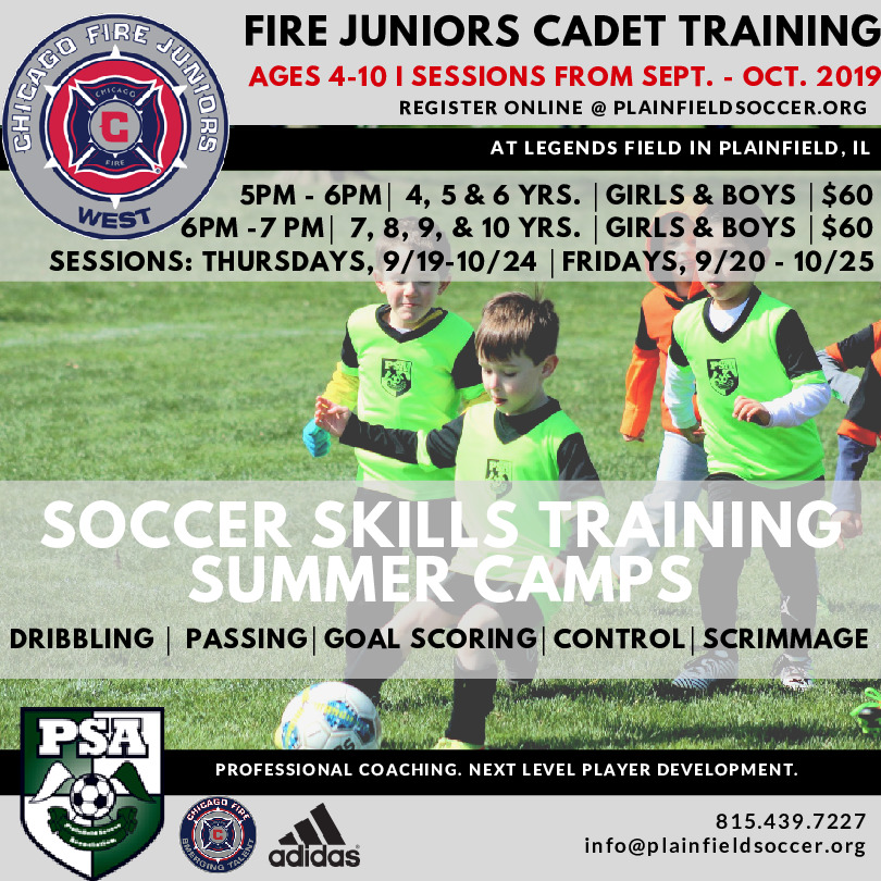 Chicago Fire Juniors West Soccer Club Cadet Program