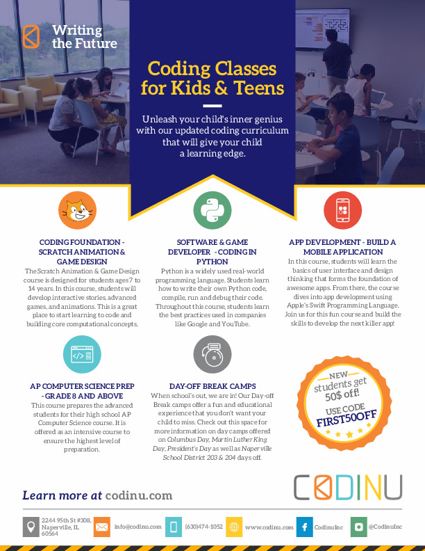 CODINU - Coding Classes for Kids & Teens in South Naperville