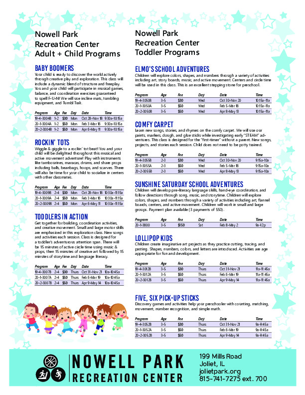 Early Childhood Programs at the Joliet Park District