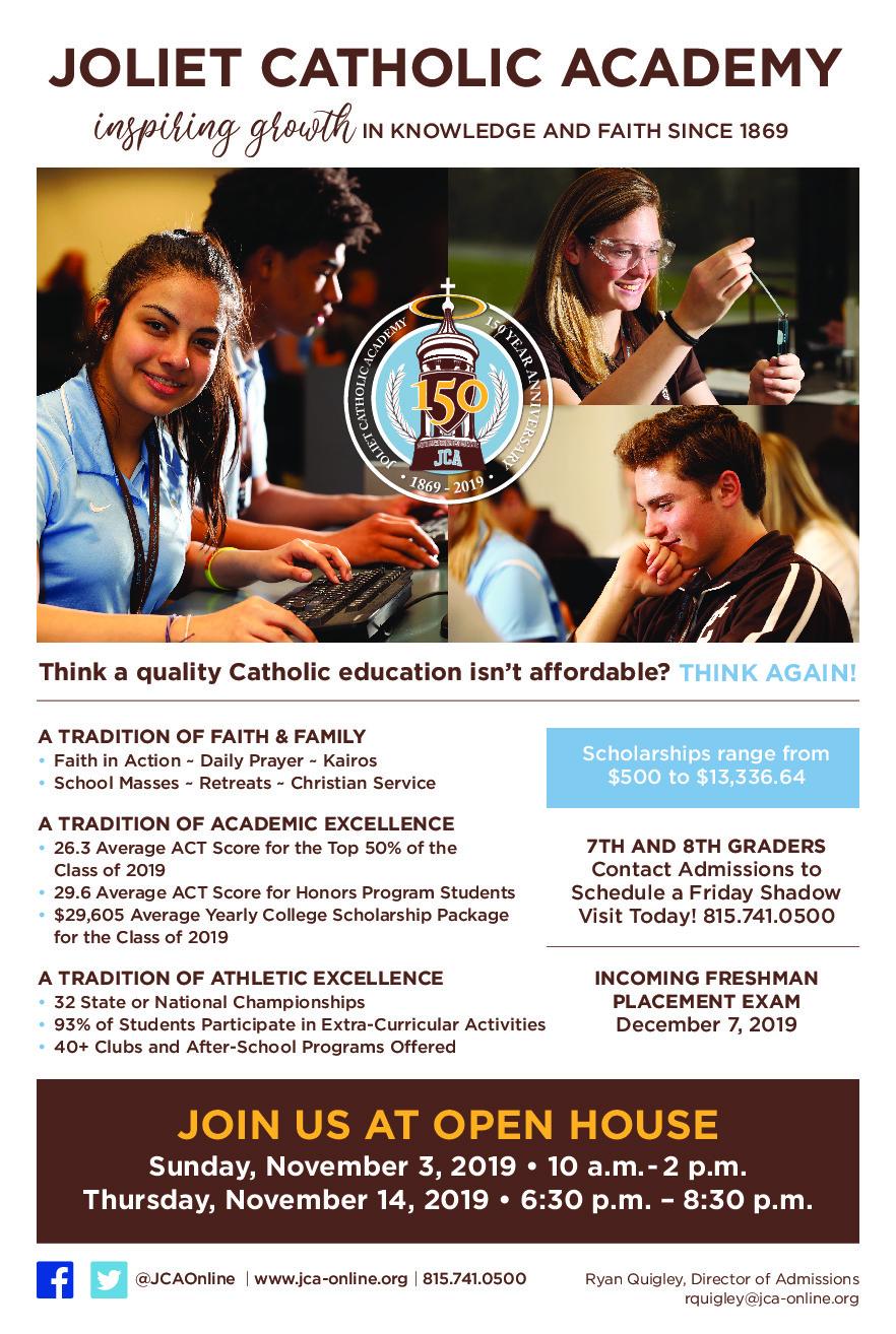 Joliet Catholic Academy Admissions Information