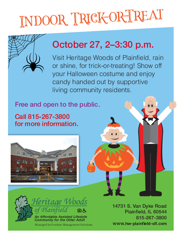 Halloween Trick or Treat at Heritage Woods of Plainfield