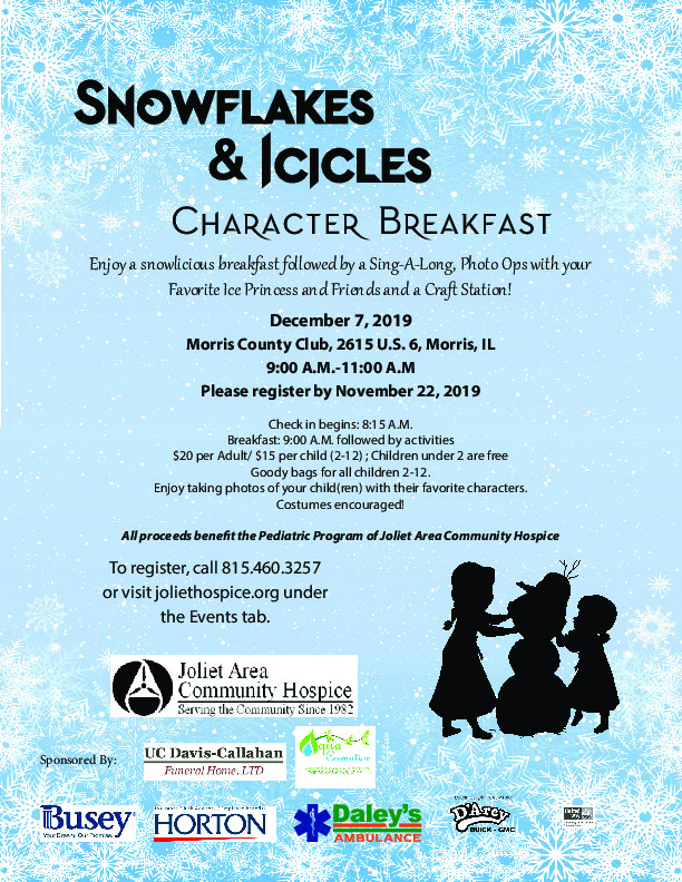 Snowflakes and Icicles Character Breakfast