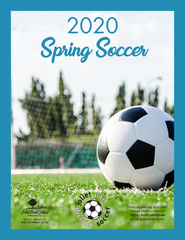 2020 Spring Soccer at the Joliet Park District