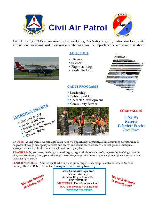 Civil AIr Patrol ~ Assisting Today's Youth become Tomorrow's Nation Leaders!