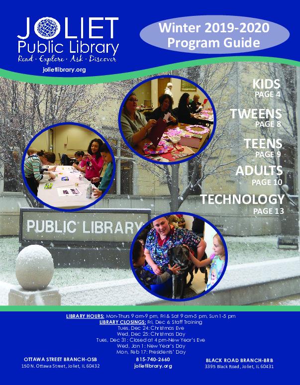 Joliet Public Library Winter Program Guide