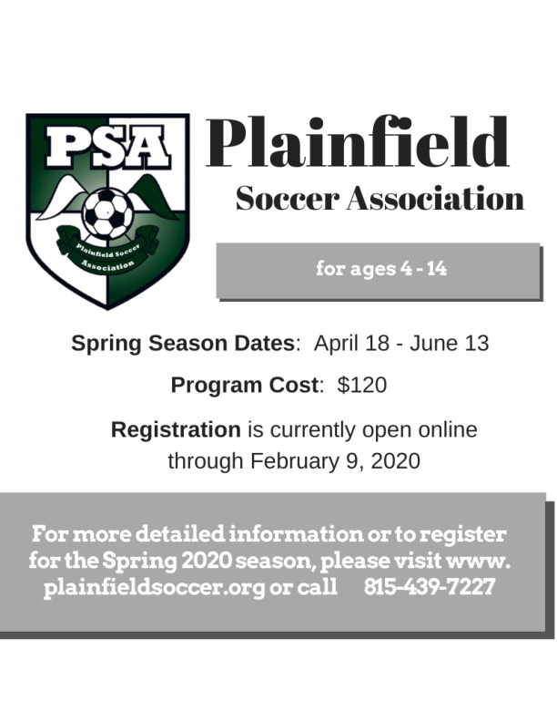PSA - Spring 2020 Recreation Registration
