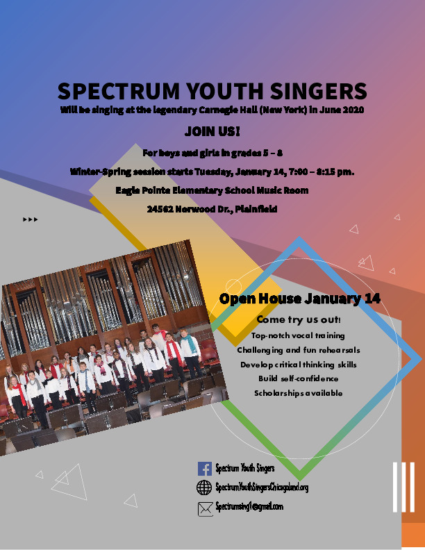 Spectrum Youth Singers OPEN HOUSE