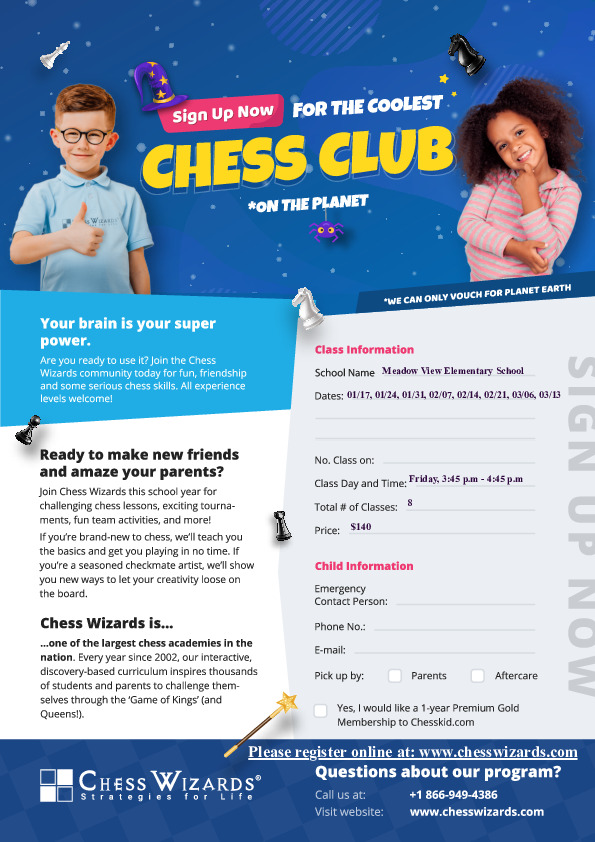 Chess Wizards Winter session starting 01/17/2020
