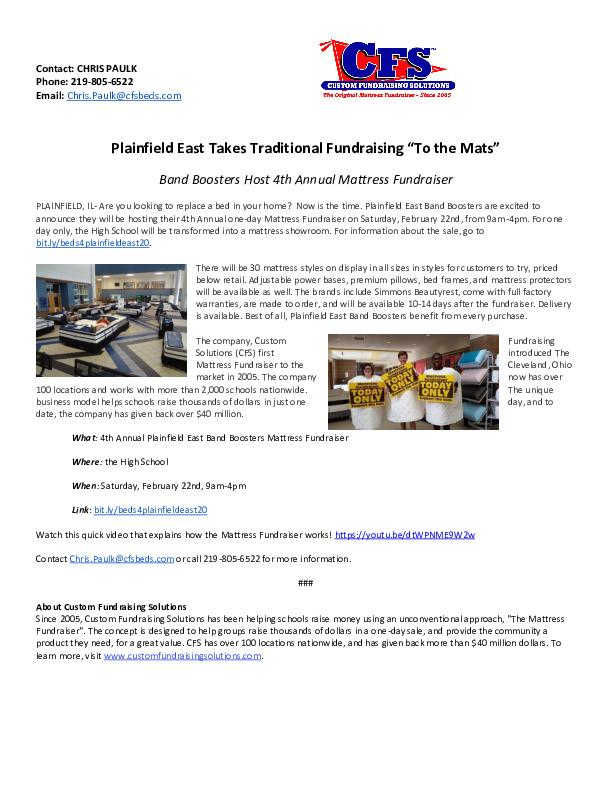 Plainfield East Band Mattress Sale