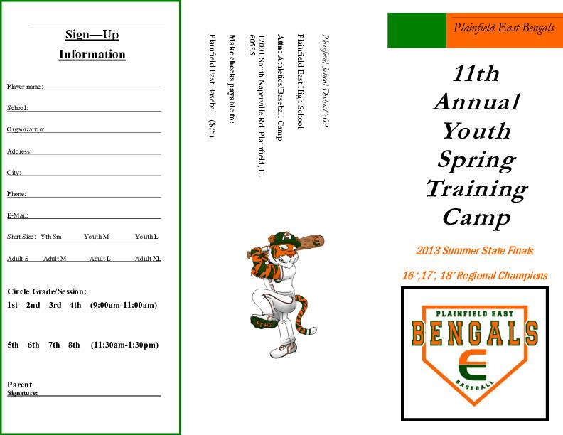 PEHS Youth Baseball Camp