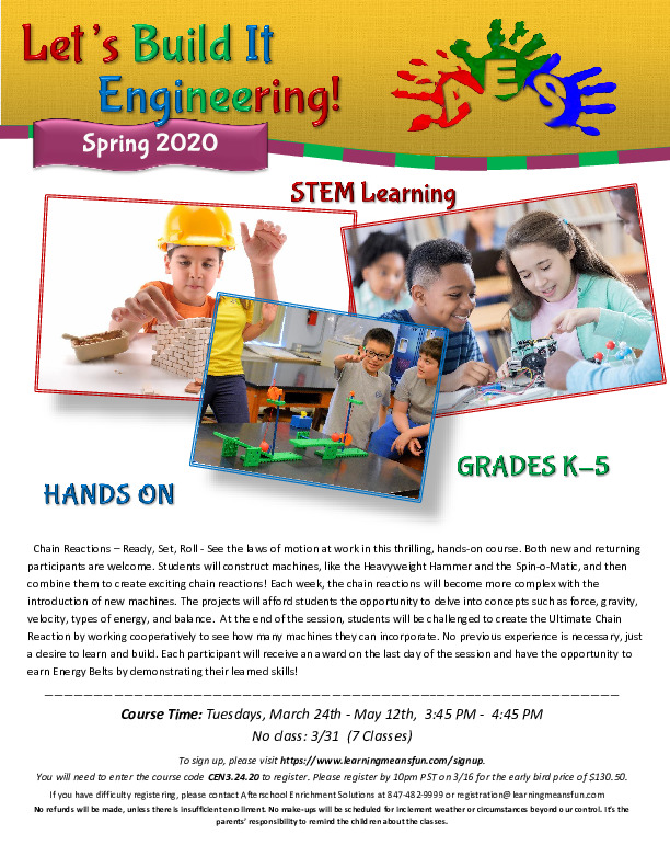 Let's Build It Engineering - After School STEM Program