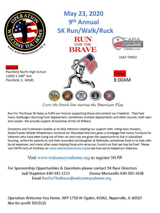 9th Annual 5K Run For The Brave Run/Walk/Ruck