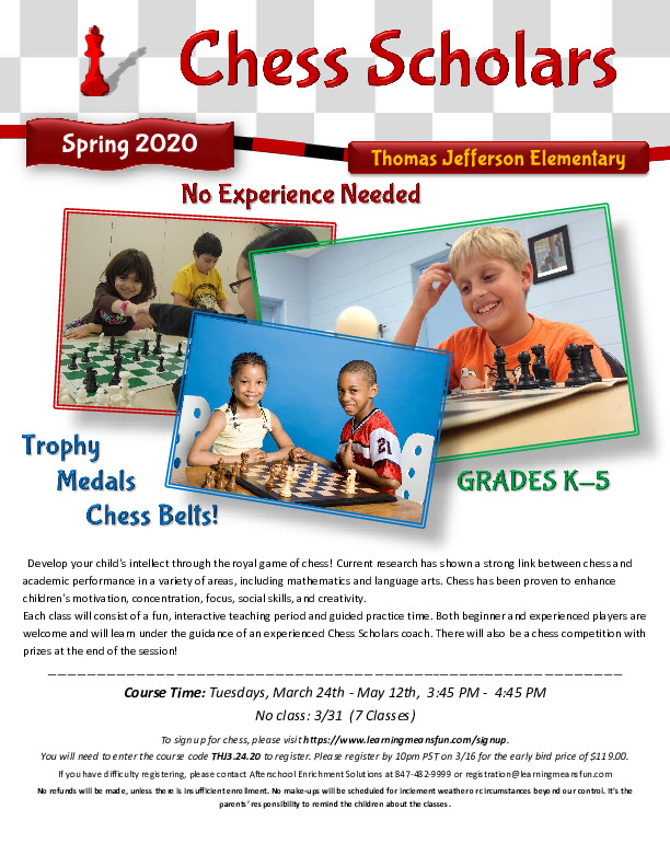 Chess Scholars - After School Chess Club