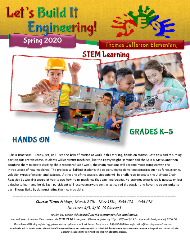 Let's Build It Engineering - After School STEM Program
