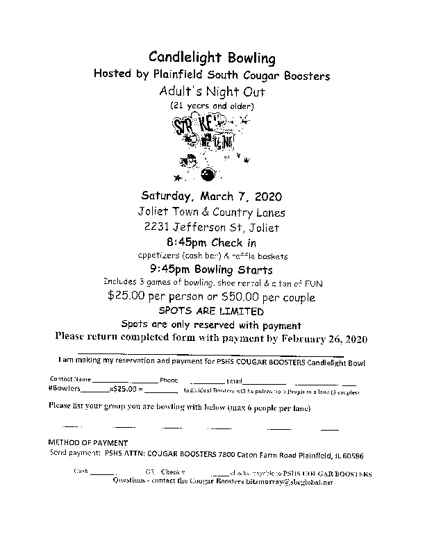 Plainfield South Candlelight Bowling