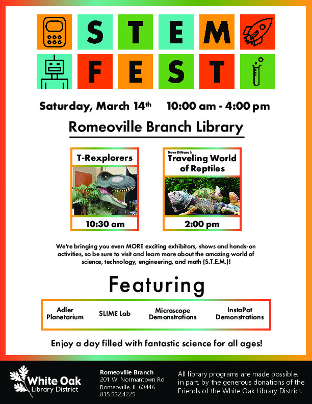 STEM Fest White Oak Library District