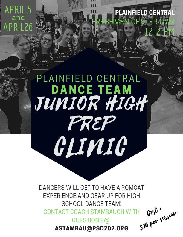 Plainfield Central Dance Team Junior High Clinic