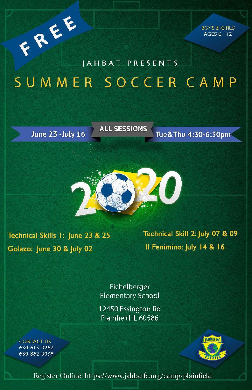 Free Summer Soccer Training