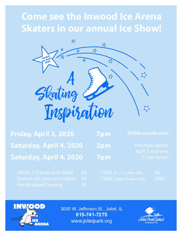 Inwood Ice Arena Annual Ice Show at the joliet Park District