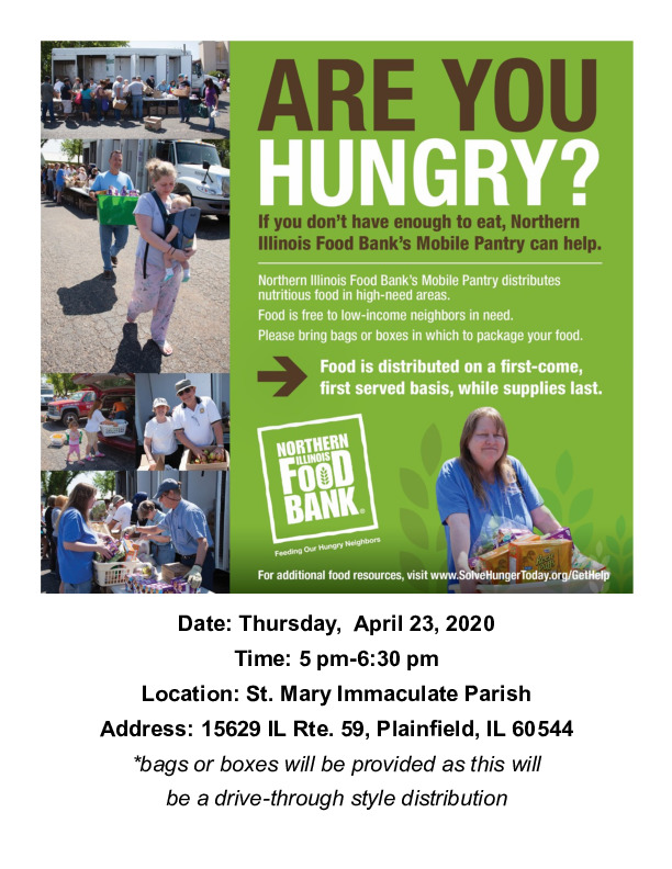 Northern Illinois Food Bank Mobile Pantry at St. Mary Immaculate Church