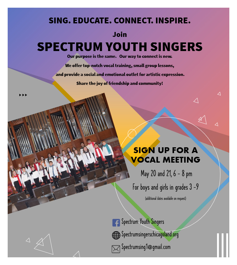 Join Spectrum Youth Singers Plainfield
