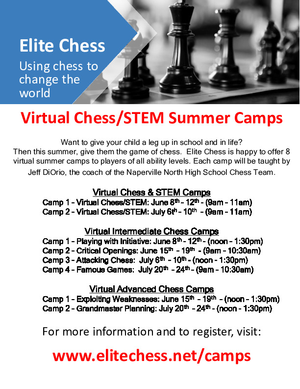 Virtual Chess/STEM Summer Camps