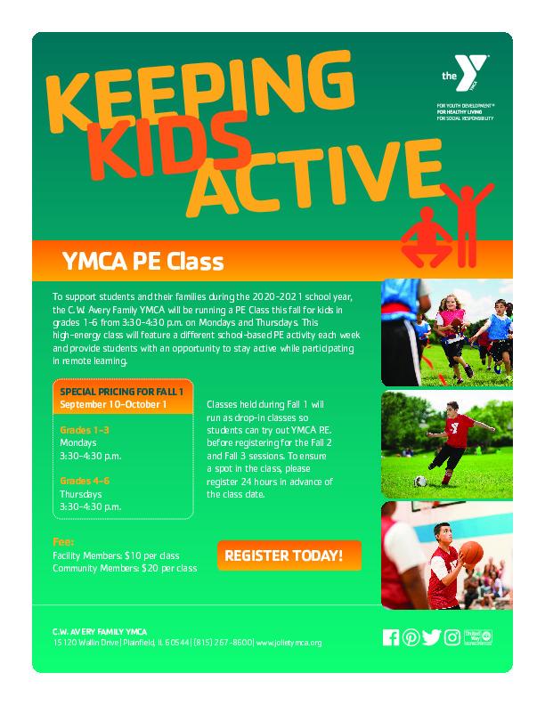 C.W. Avery Family YMCA PE Class