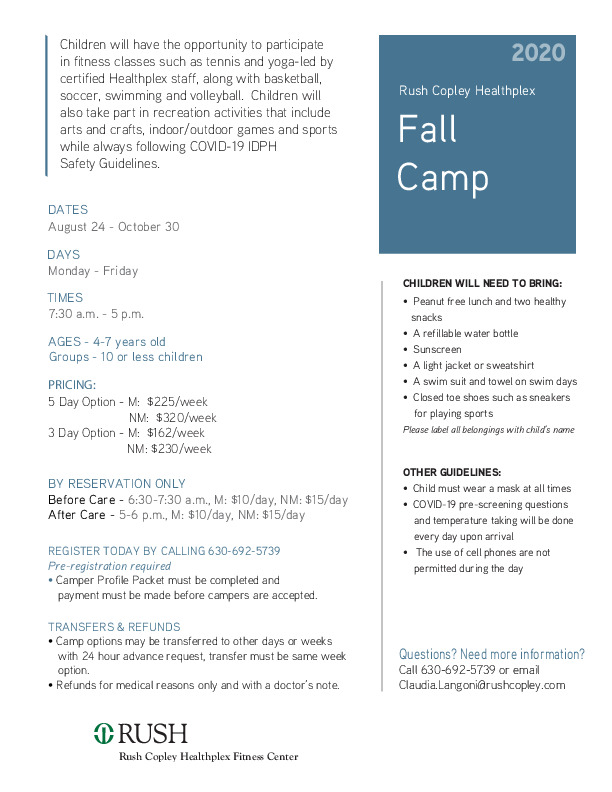 Fall Camp for ages 4-7
