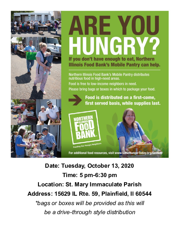 Northern IL Mobile Food Bank at St. Mary Immaculate Church