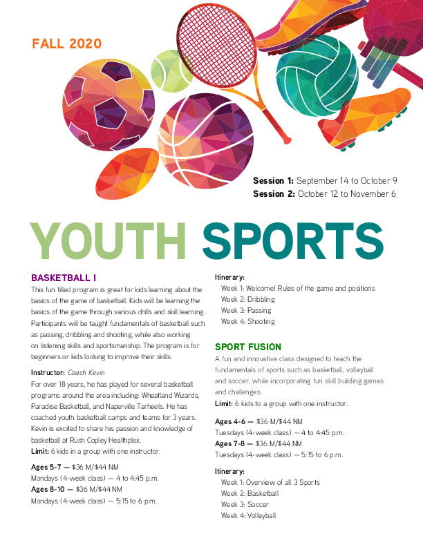 Youth Sports at the Rush Copley Healthplex