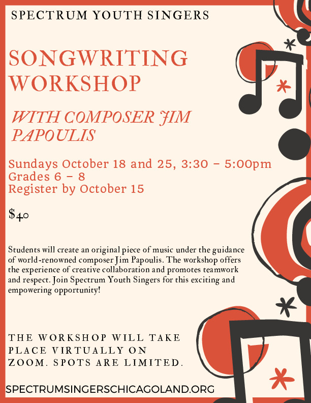 Spectrum Youth Singers Songwriting Workshop, Plainfield
