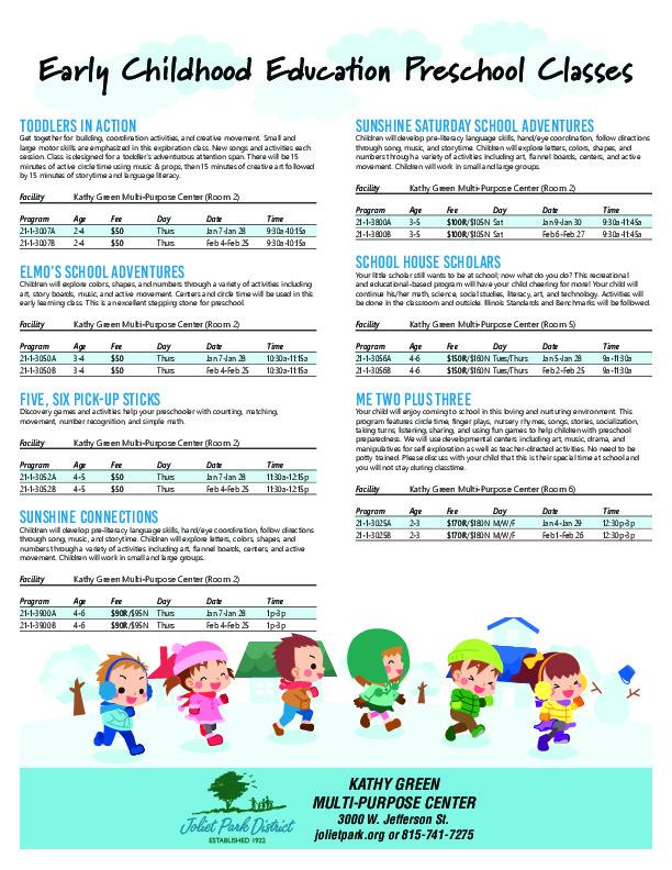 Early Childhood Education Preschool Classes
