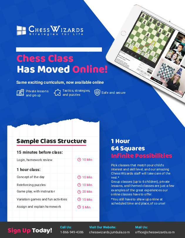 Chess Wizards Online classes