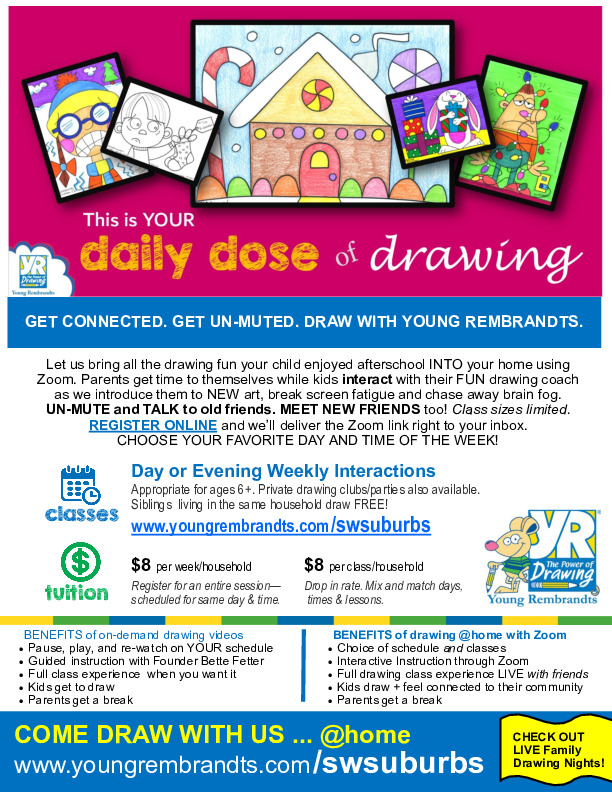 Young Rembrandts Kids Drawing Clubs