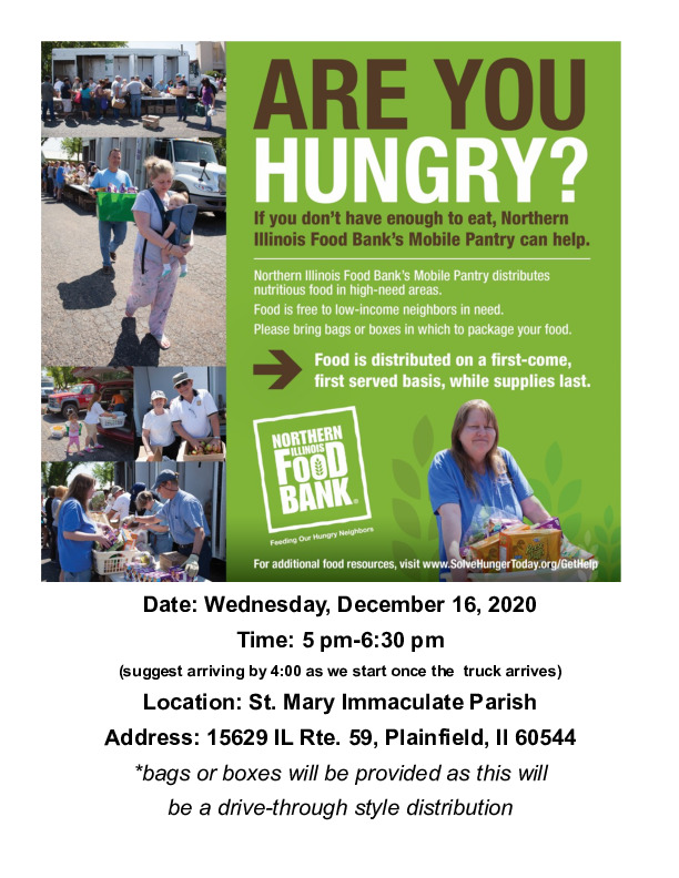 Plainfield Mobile Food Pantry